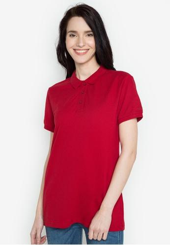Freego red Ladies Basic Polo Tee FR760AA0JGT1PH_1