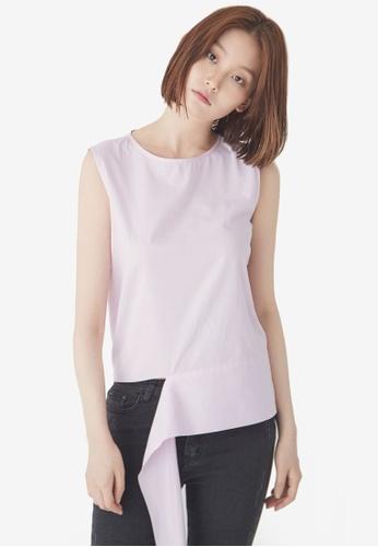 NAIN pink Bow Front Sleeveless Top 78145AA8E0D121GS_1