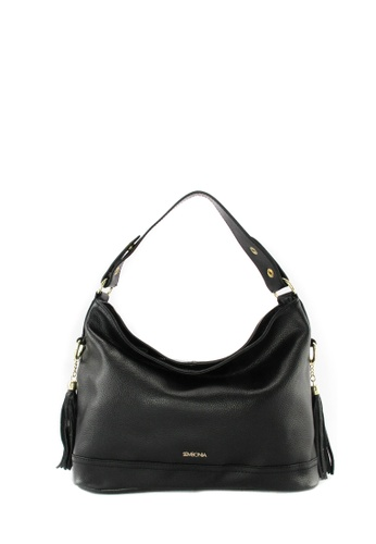 SEMBONIA black SEMBONIA Genuine Leather Hobo Bag SE598AC12TKPMY_1