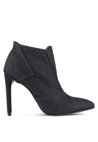ZALORA black Glitter Ankle Boots 9463BZZ1BF420BGS_1