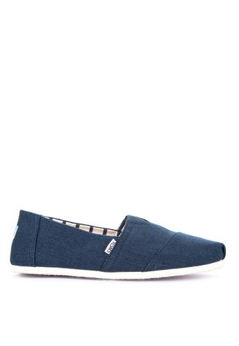 TOMS blue Alpargata Slip-on BD9A4SH0AF085AGS_1