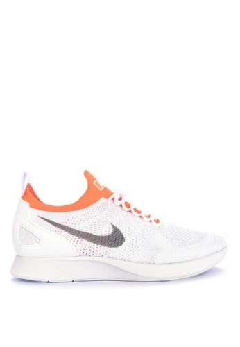 Nike grey and orange Men's Nike Air Zoom Mariah Flyknit Racer '18 Shoes FCF75SHC54142DGS_1