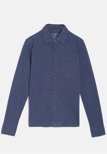 ZALZA blue Mike 100% Organic Cotton Boys Full Open Tee - Blue 5E713KA290F22AGS_1