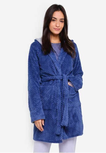 Cotton On Body blue Luxe Plush Gown 17BFEAAB496563GS_1