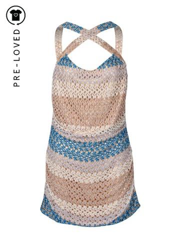 M Missoni gold Pre-Loved m missoni Crochet Mini Dress F0898AA979B39AGS_1