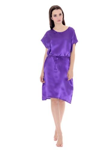 Cynthia purple Charming Sleepdress Purple Batwing Saten F1317AAC6CD7CBGS_1