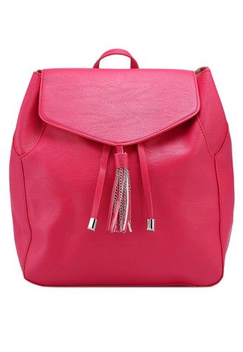 OVS pink Backpack With Drawstring And Chain Tassel 8369DACD8B2615GS_1