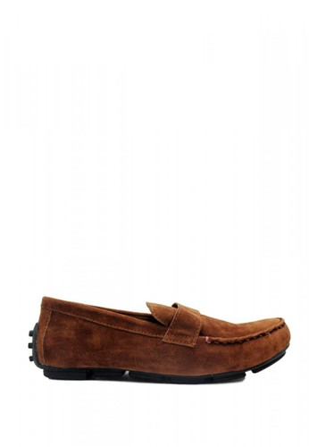 D-Island brown D-Island Shoes Slip On Moccasins Comfort Suede Soft Brown B74B6SH76235A4GS_1