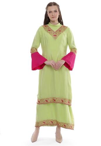 "Devain Kapoor green ""Pallavi"" Dress B32ADAAF8FF9ACGS_1"