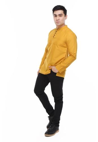 Amar Amran yellow Kurta Rayqal 69EBBAA35C3F45GS_1