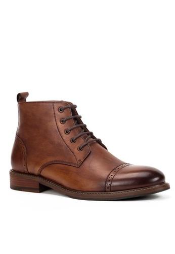 Twenty Eight Shoes Maple Vintage Leather Brogue Boot 618-52 3ECCCSH0DD84A2GS_1