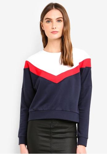 ONLY navy Gigi Block Batwing Sweater C9A77AA88D3644GS_1