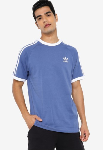 ADIDAS blue 3-stripes t-shirt BAABBAAA1C414FGS_1