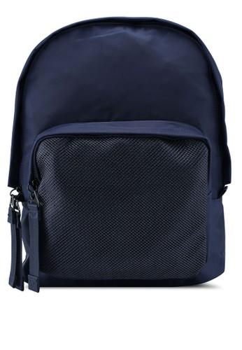 NUVEAU blue Lightweight Nylon Backpack 950A6AC090CA5CGS_1