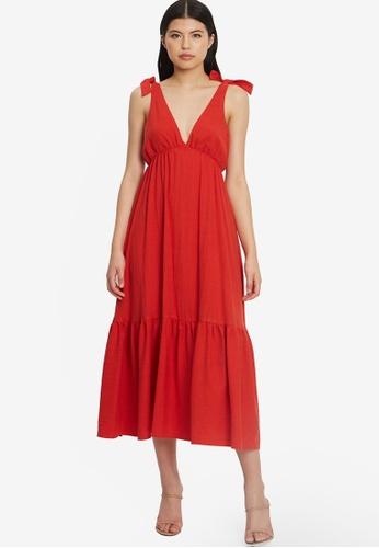 Tussah red Kate Maxi Dress 88549AA1B44ECCGS_1