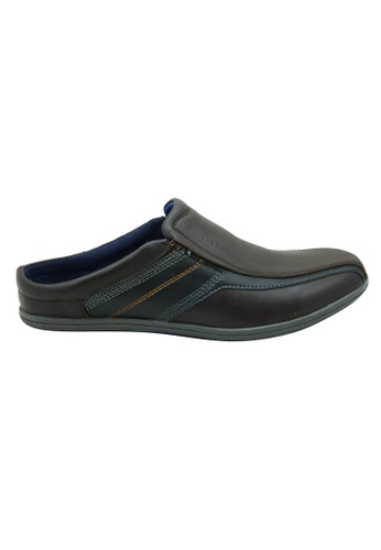 midzone brown Comfortable Leather Slip On MI949SH48ZHBMY_1
