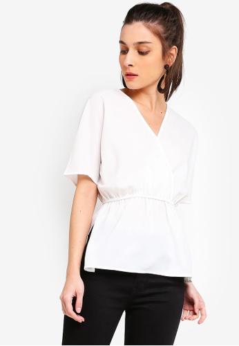 ZALORA 白色 Kimono Sleeves Top 46B05AA4A8FC57GS_1