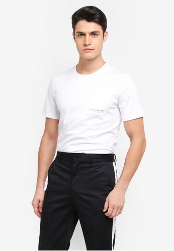 Calvin Klein white Talb Tee - Calvin Klein Jeans C8A17AACF8D2C3GS_1