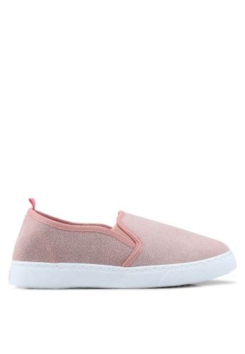 OVS 粉紅色 麂皮懶人鞋 95D14SH525B303GS_1
