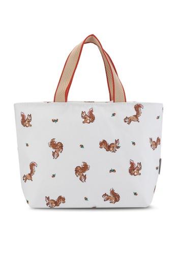 Cath Kidston beige Garden Squirrels Lunch Tote Bag 888D3AC3304CEDGS_1