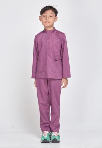 MOTHER & CHILD purple Baju Melayu Sultan Exclusive Kids 40626KA218BC65GS_1
