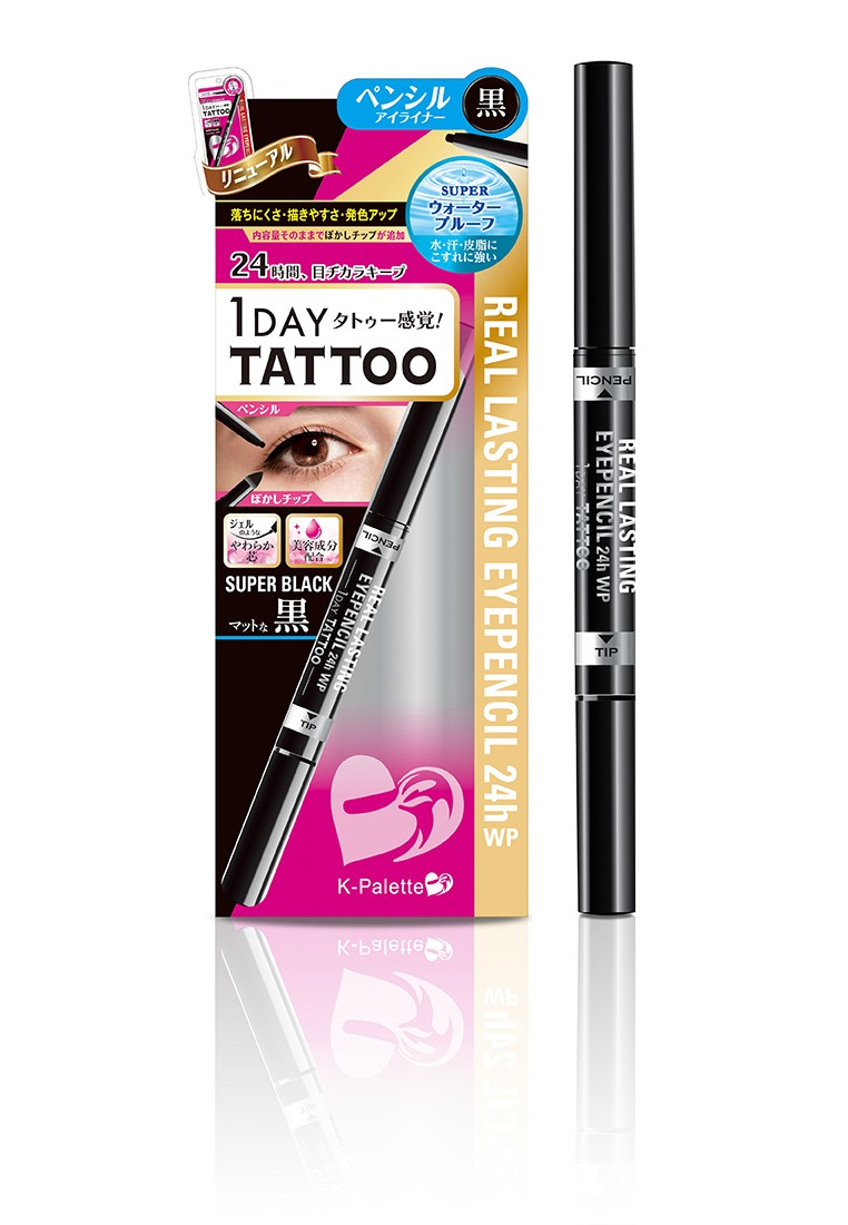 1 Day Tattoo Real Lasting Eyepencil In Super Black