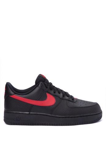 Nike black Men's Nike Air Force 1 '07 Shoes NI126SH0KT58PH_1