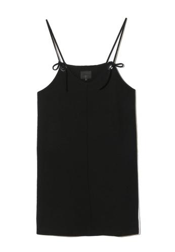 MUSIUM DIV black Logo panel cami tie dress 197E3AA6E465C7GS_1