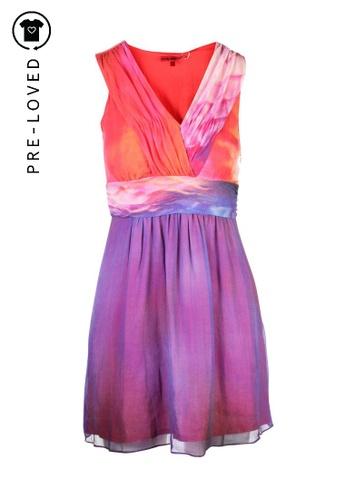 Vivienne Tam purple Pre-Loved vivienne tam V- Neck Printed Dress 4FC6FAAA9D5425GS_1