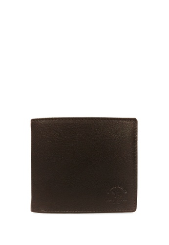 Santa Barbara Polo & Racquet Club brown Santa Barbara Polo & Racquet Club Leather Bifold Wallet 8BA2CAC13C3B59GS_1