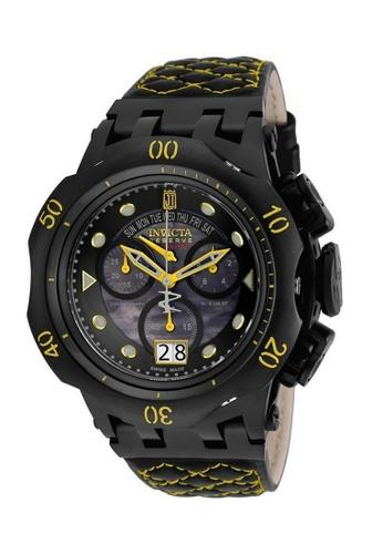 INVICTA black Invicta JT Men 51mm Case Black, Yellow Leather Strap Black Dial Quartz Watch 17184 IN968AC0F5BWSG_1