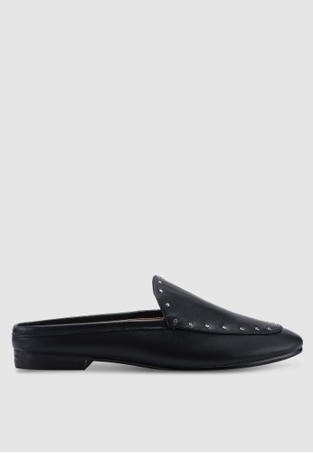 Banana Republic 黑色 鉚釘樂福鞋穆勒鞋 ADC19SH6902068GS_1