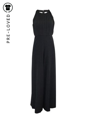 Alice + Olivia black Pre-Loved alice + olivia Black Long Jumpsuit with Halter Neck 1B493AA25773F7GS_1