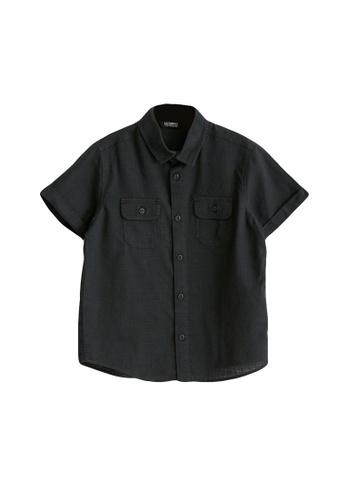 LC Waikiki black Boy's Poplin Shirt 8BC6EKAAA61C08GS_1