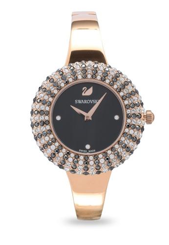 SWAROVSKI gold Crystal Rose Metal Bracelet Watch BC4C9AC3C4ADF7GS_1