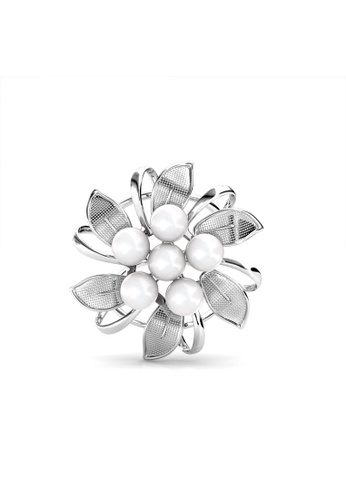 91b256c3e7f Her Jewellery silver Her Jewellery Dahlia Pearl Scarf Ring - Embellished  with Crystals from Swarovski®