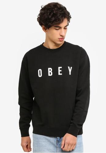 OBEY 黑色 Anyway Sweatshirt CCAB7AA57E59F8GS_1