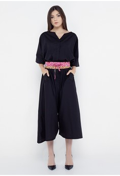 REE black Wide Leg Jumpsuit - Black (Obi Not Include) 967CFAA8712FC4GS 1 9a37323d70