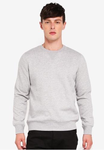 Brave Soul grey Crew Neck Sweatshirt 93EDDAA25880FAGS_1