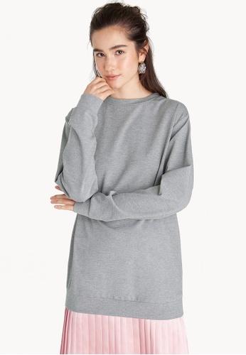 Pomelo grey Knee Length Pullover Dress FBD75AA83E9F39GS_1