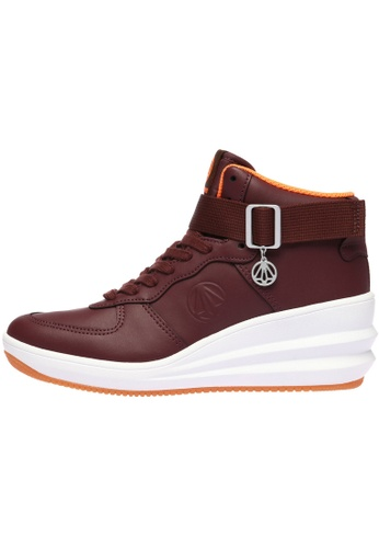 paperplanes Paperplanes-1334 Fashion Tall Up Ankle Strap High Top Sneakers Shoes US Women Size PA110SH72ZTVHK_1