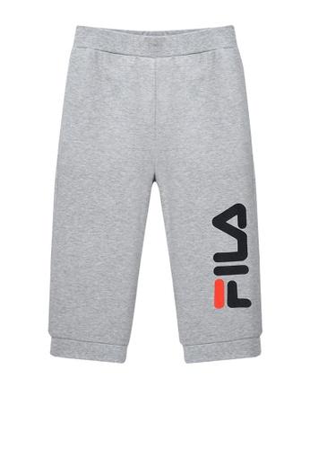 FILA grey FILA KIDS Vertical FILA Logo Cotton Capri Pants 8-15yrs 72D27KAC71C523GS_1
