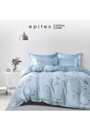 Epitex Epitex BP5312 Bamboo 1000TC Xhale Printed Bedsheet - Bedset - Bedding Set (w quilt cover) 5C094HL9CA110AGS_1