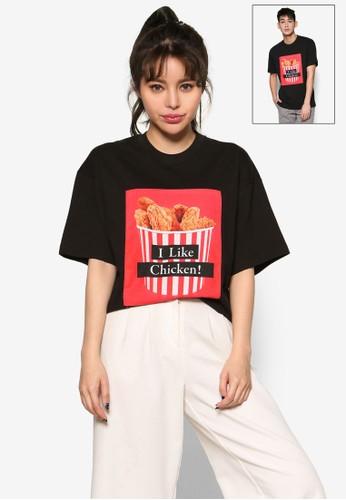 『我喜歡雞肉』圖文設計esprit sgT 恤, 服飾, 上衣