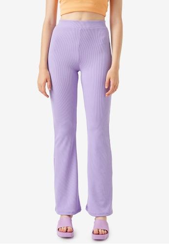 KOTON purple Casual Trousers F79B9AAFA311B0GS_1