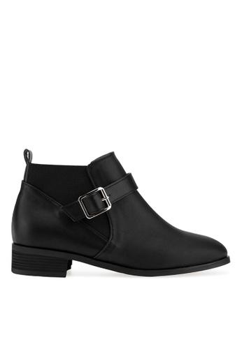 SPUR black Buckle chelsea boots 073BBSHD608991GS_1