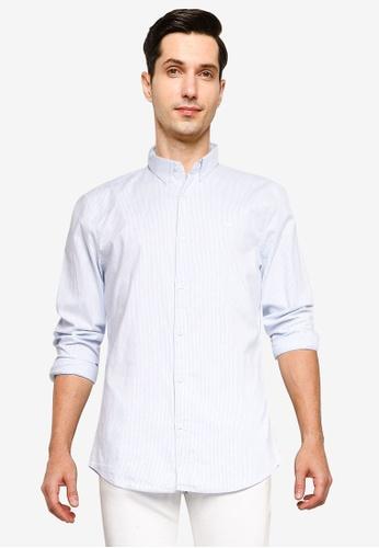 Hollister blue Long Sleeve Pattern Shirt 362C7AA5330246GS_1