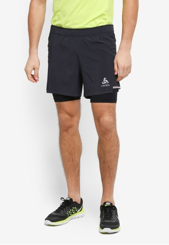 Odlo black Zeroweight Ceramicool 2-In-1 Shorts 600F3AABF174D0GS_1