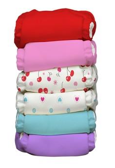 Sweet Cherries 2-in-1 Baby Cloth Diaper pack of 6