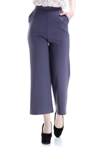 Evernoon grey Xana Celana Kulot Bawahan Wanita Motif Solid Design Simple Fashionable Woman - Grey AC678AA5D21CDFGS_1